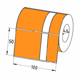 Test & Tag Thermal Transfer Labels ORANGE