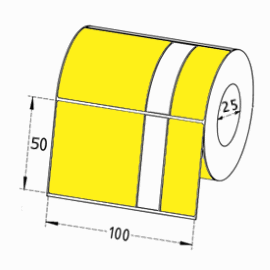 Test & Tag Direct Thermal Labels YELLOW