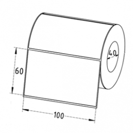 100mm x 60mm Direct Thermal Labels, 40mm Core, Permanent, 700 Labels/Roll