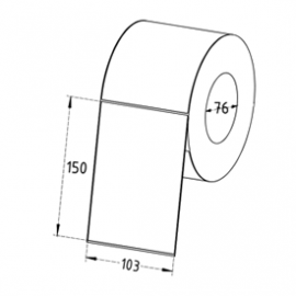 103mm x 150mm Direct Thermal Labels, 76mm Core, Economy Paper, Permanent, Perforated, 1000 Labels/Roll