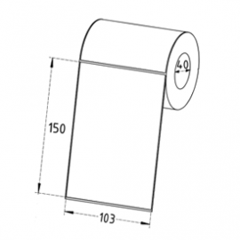 103mm x 150mm Direct Thermal Labels, 40mm Core, Permanent, Perforated, 300 Labels/Roll