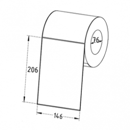 146mm x 206mm Direct Thermal Labels, 76mm Core, Permanent, Perforated, 700 Labels/Roll